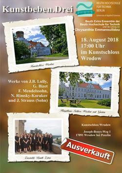 Konzert im Kunstschloß Wrodow am 18. August 2018