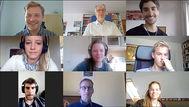 Videokonferenz mit den Teilnehmern aus DE und AR am 7.4.2020