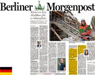 Berliner Morgenpost 19.08.2017 / Anna Klar; Hervorgehoben: Auslandsstudium an der UCA