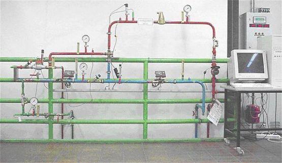 Strahlpumpenprüfstand im Labor für Heiztechnik der Beuth Hochschule Berlin